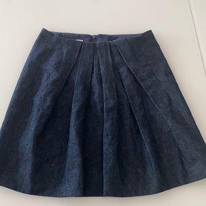 Brunello Cucinelli Pleated Denim Skirt